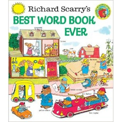 Richard Scarry's Best Word Book Ever (Giant Golden Book) (Hardcover)
