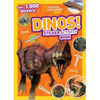 National Geographic Kids Dinos Sticker Activity Book: Over 1,000 Stickers! (NG Sticker Activity Books) (Paperback)